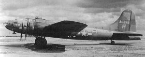 A B17 of the 25th Bomb Group on the tarmac at Watton