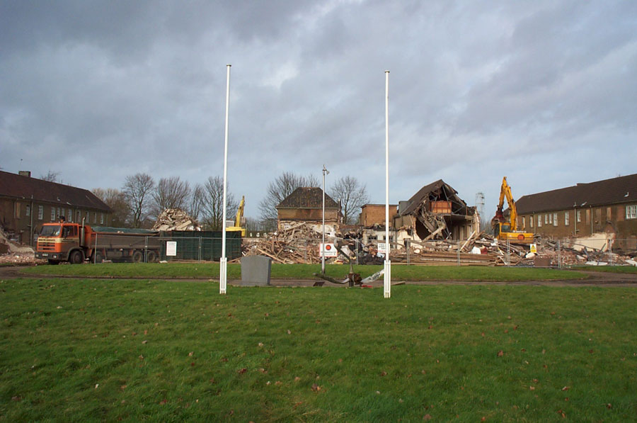 Demolition of the Officers Mess at Watton January 2002
