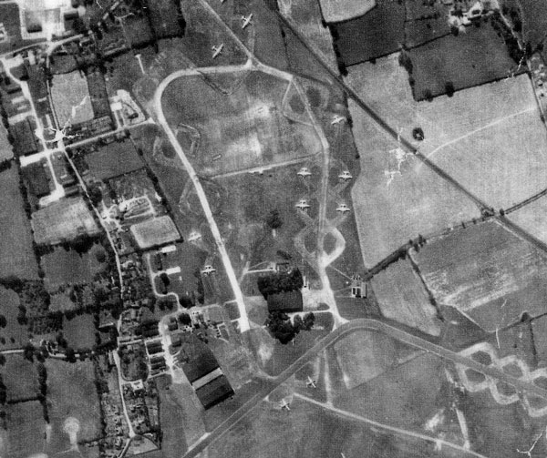 The south of RAF Watton in 1954 - this is the area that was used by the 3rd SAD