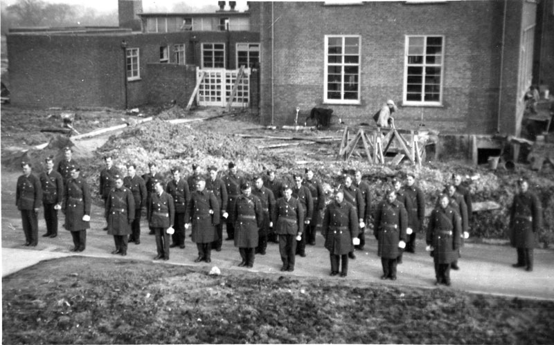 I believe this to be a 'parade' out side the Airman's Mess around October or November 1940