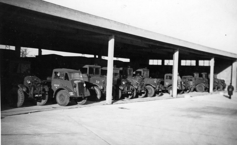 A view of the MT Shed which were between Hangar 4 and the Sergeants Mess