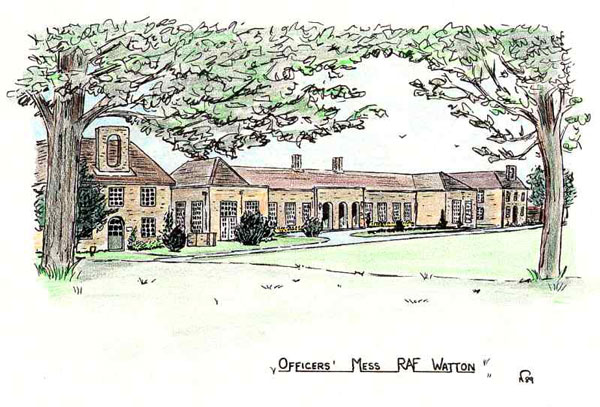 This water colour painting of the Officers' Mess probably dates from the late 1970's. I believed the artist was one Colin Rutters - Eric Webster (and others) have confirmed this to be the case. Colin was a Controller at Eastern Radar and, according to Eric, a talented artist.