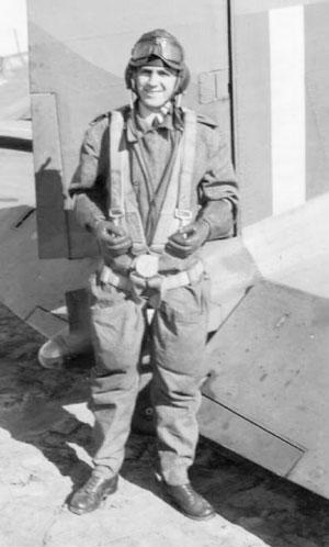 Douglas Kirkland in flying gear