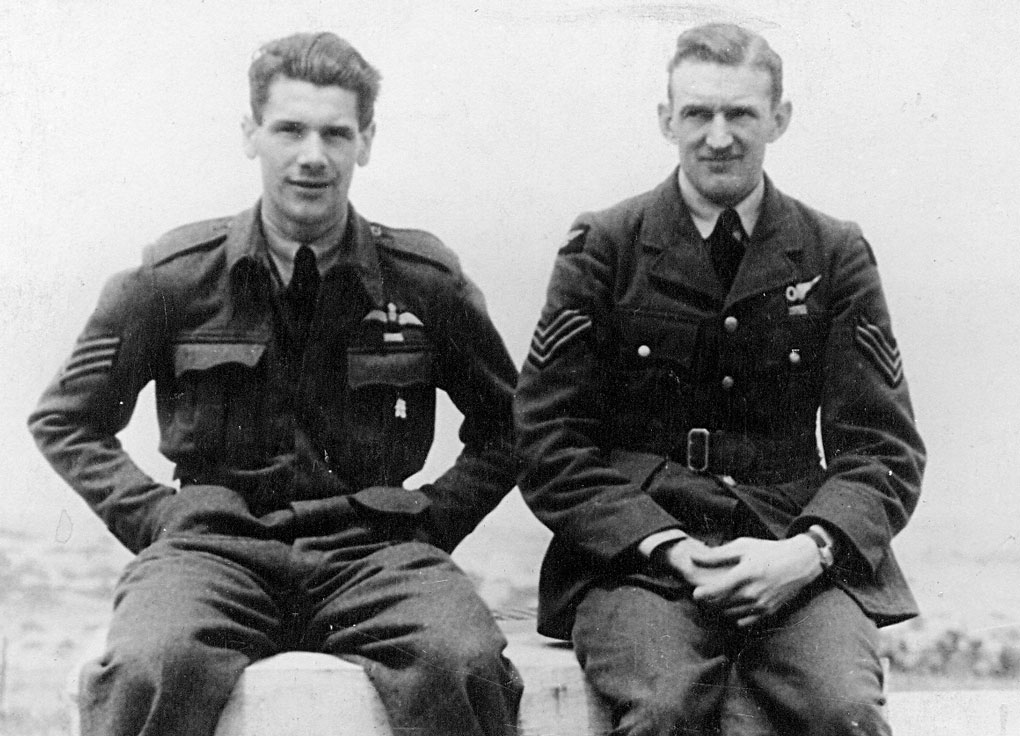 Reg Leavers and ian Overheu - note that both men are wearing their DFM ribbons so this picture was taken after the award in April. Therefore it is likely that the picture was taken on detachment to Malta during April/May 1941