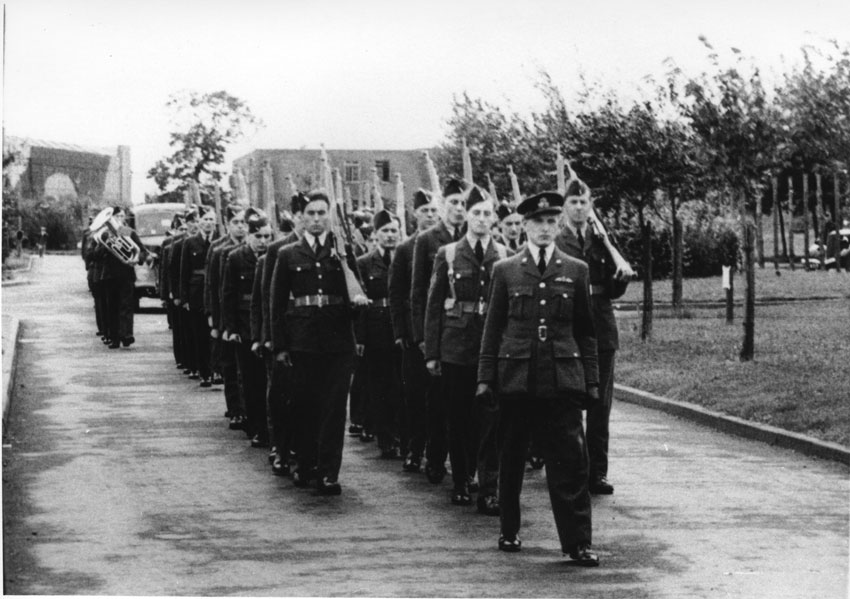 The Slow March down to the Main Gates at RAF Watton