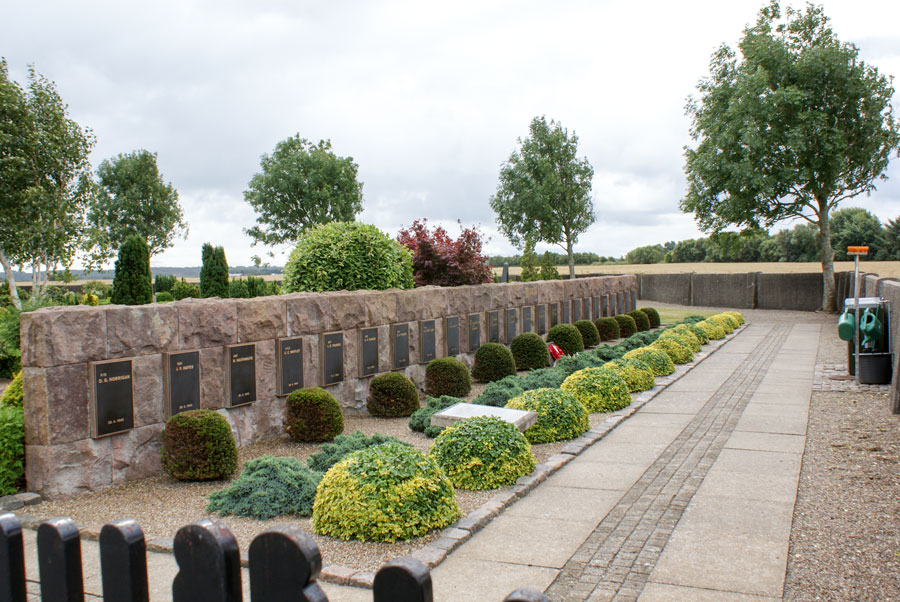The cemetery at Vadum where those lost on the Aalborg raid are buried.