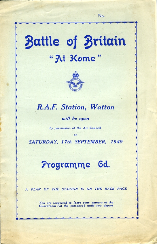 Battle of Britain 'At Home' 17th September 1949