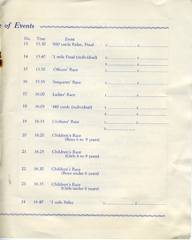 Sports Day Programme, 28th June 1939  Page 5