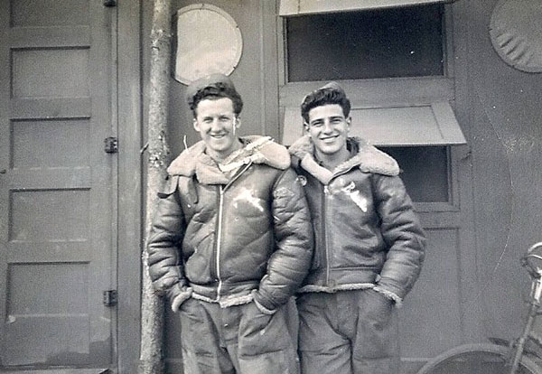 Ray Dorman (left) with Ray Dorman and Sam Weiner Watton 1945