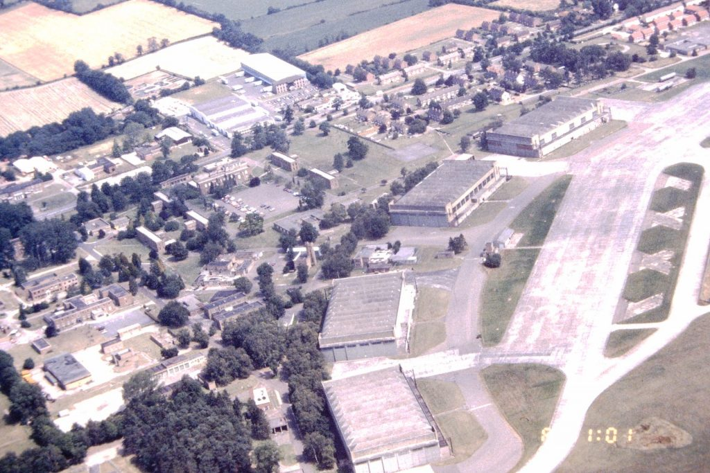 RAF Watton from the air 17th July 1990