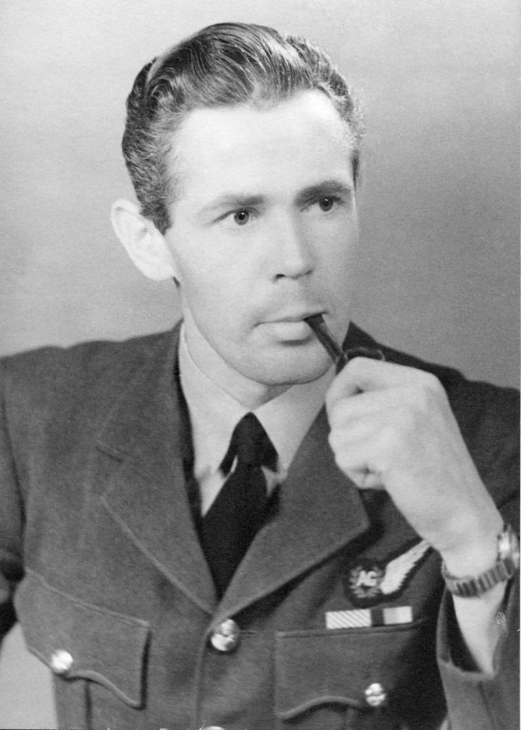 Sqn Ldr R.E. Hunter DFM around the end of World War Two (Bob Hunter [son])